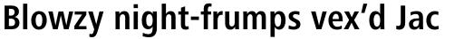 Frutiger Next Pro Condensed Bold sample