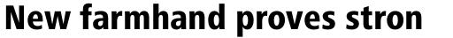 Frutiger Next Pro Condensed Heavy sample