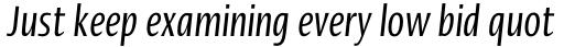 Linotype Ergo Pro Compressed Italic sample
