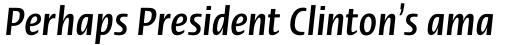 Linotype Ergo Pro Bold Compressed Italic sample