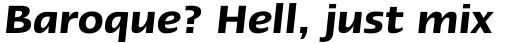 Linotype Ergo Pro Demi Italic sample