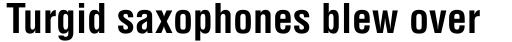 Helvetica Bold Condensed sample