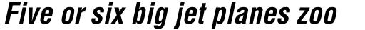 Helvetica Bold Condensed Oblique sample