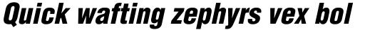 Helvetica Black Condensed Oblique sample