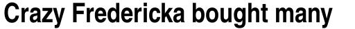 Helvetica Narrow Bold sample