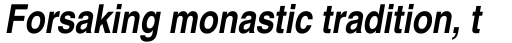 Helvetica Narrow Bold Oblique sample