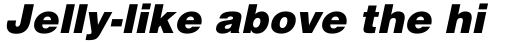 Helvetica Black Oblique sample