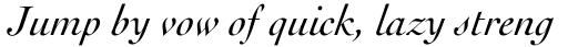 Cochin Pro Italic sample