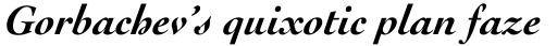 Cochin Pro Bold Italic sample