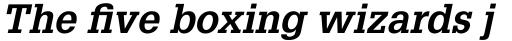 Glypha Pro 65 Bold Oblique sample