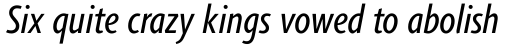 Agilita Pro Condensed Italic sample