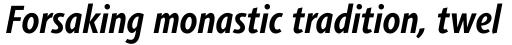 Agilita Pro Condensed Bold Italic sample