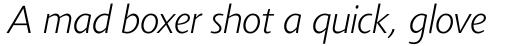 Agilita Pro Extra Light Italic sample