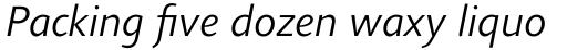 Agilita Pro Light Italic sample