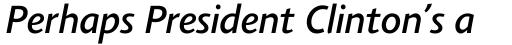 Agilita Pro Medium Italic sample