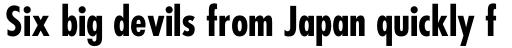 Futura Pro Condensed Bold sample