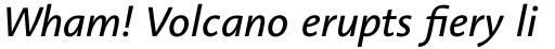 Linotype Aroma No. 2 Pro Italic sample