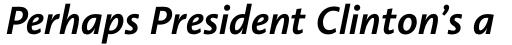 Linotype Aroma No. 2 Pro Semibold Italic sample