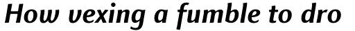 Finnegan Pro Bold Italic sample