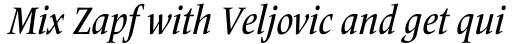 Frutiger Serif Pro Condensed Medium Italic sample