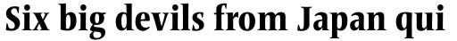 Frutiger Serif Pro Condensed Heavy sample