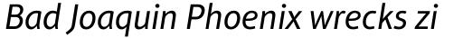 Aptifer Sans Pro Italic sample