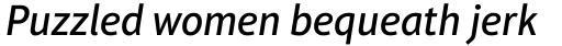 Aptifer Sans Pro Medium Italic sample