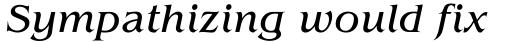 ITC Benguiat Book Italic sample