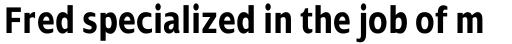 Dialog Pro Condensed Bold sample