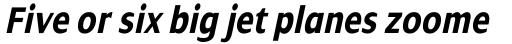 Dialog Pro Condensed Bold Italic sample