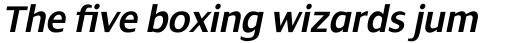 Dialog Pro Semi Bold Italic sample