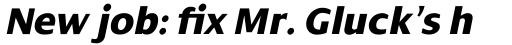 Dialog Pro Extra Bold Italic sample