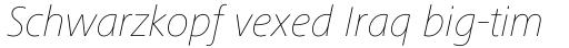 Frutiger Next Paneuropean Ultra Light Italic sample