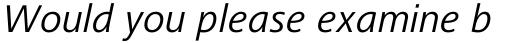 Frutiger Next Paneuropean Italic sample