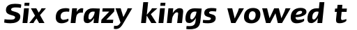 Linotype Ergo Cyrillic Demi Bold Italic sample