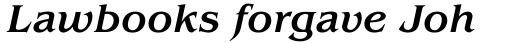 ITC Benguiat Medium Italic sample
