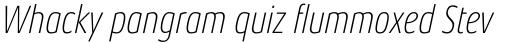 Aeonis Pro Condensed Thin Italic sample
