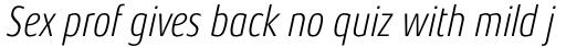Aeonis Pro Condensed Light Italic sample