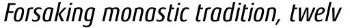 Aeonis Pro Condensed Medium Italic sample