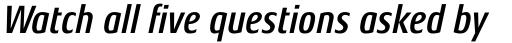 Aeonis Pro Condensed Bold Italic sample