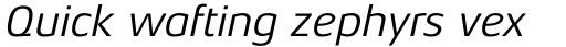Aeonis Pro Italic sample
