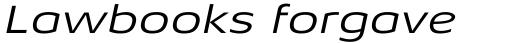 Aeonis Pro Extended Italic sample