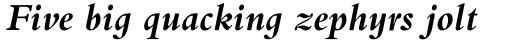 Bembo Infant Bold Italic sample