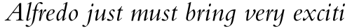 Bembo Infant Italic sample