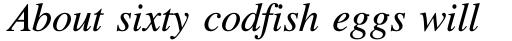 Times Italic sample