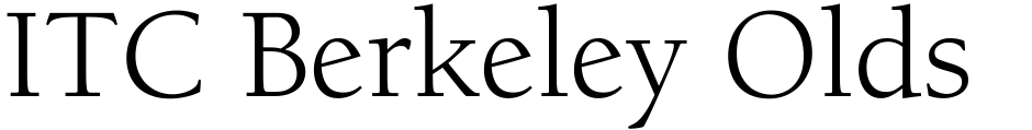 Click to view  ITC Berkeley Oldstyle font, character set and sample text