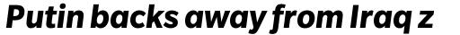 Slate Bold Italic sample