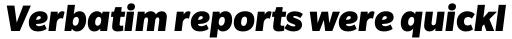 Slate Black Italic sample
