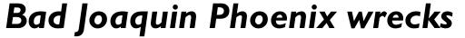 Gill Sans WGL Bold Italic sample