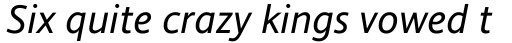 Andale Sans WGL Italic sample